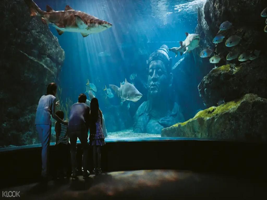 泰國曼谷暹羅市中心10大必去景點:02曼谷暹羅海洋世界 _水中佛像