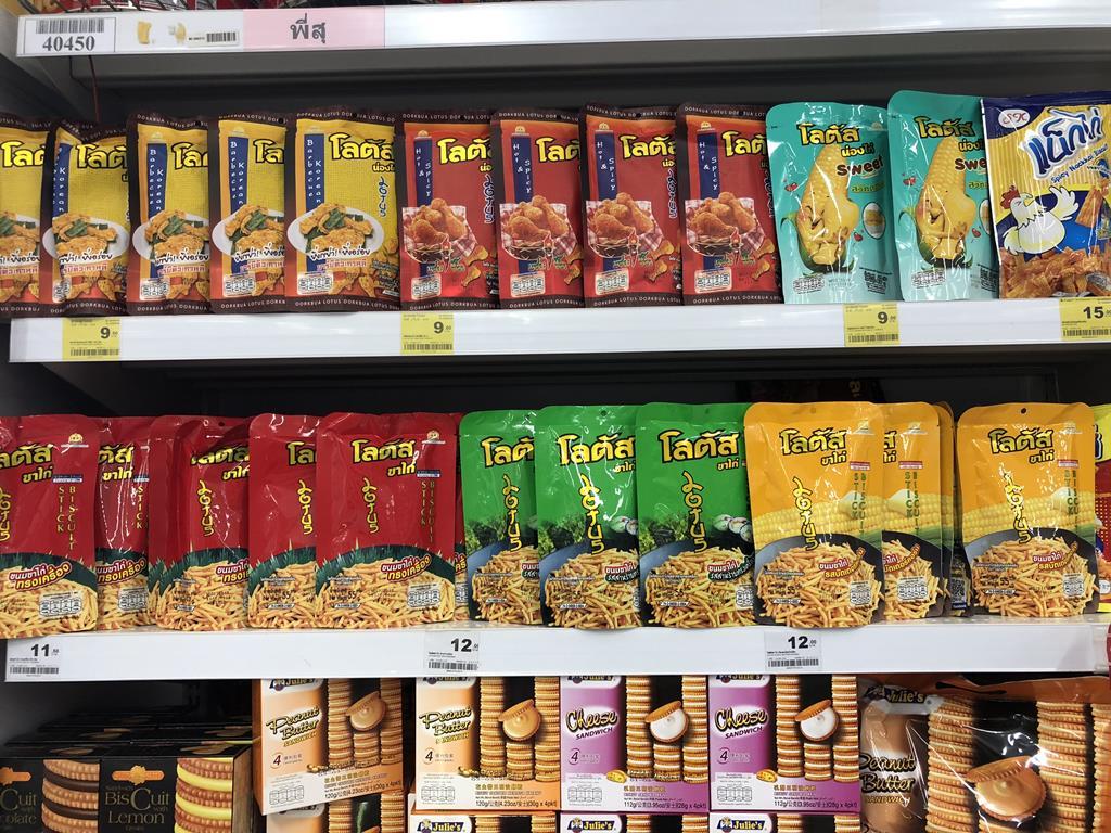 泰國曼谷暹羅市中心10大必去景點:10 BIG C_零食照片示意