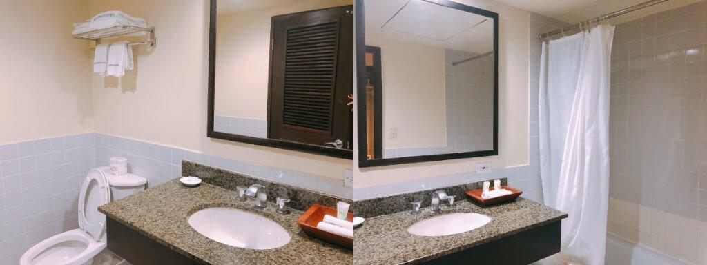 關島平價住宿推薦:灣景飯店Bayview Hotel-浴室示意