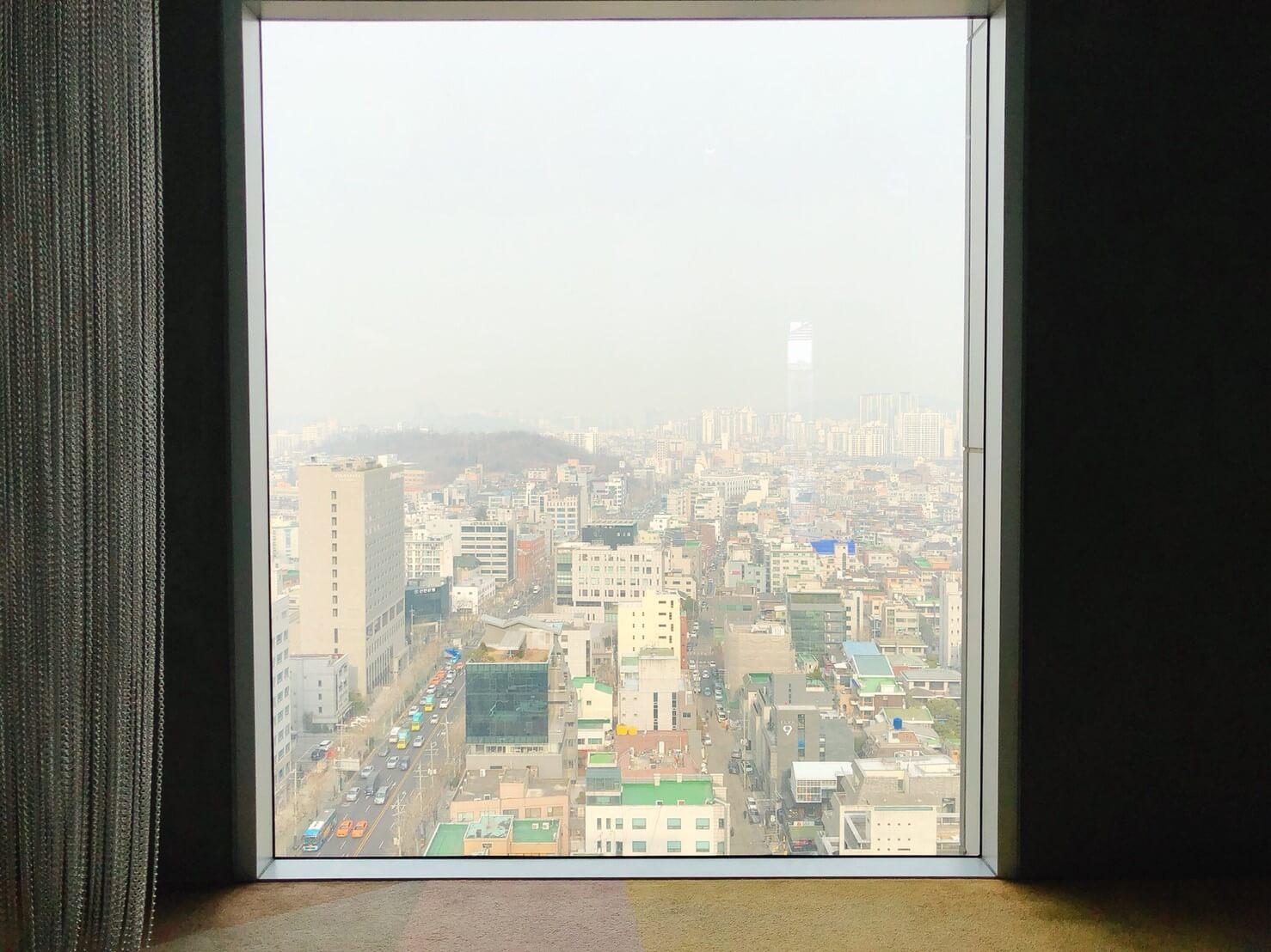首爾住宿推薦_弘大L7樂天飯店好評介紹_飯店景觀超好